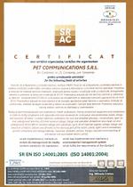 Certificat ISO 14001-2008