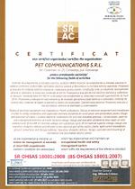 Certificat OHSA-18000-2008